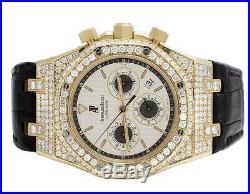 18k Yellow Gold Mens 39 MM Audemars Piguet Royal Oak with 12.5 Ct of VS Diamond