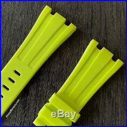 42mm Audemars Piguet Royal Oak Offshore & Diver Acid Green Yellow rubber strap