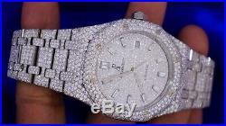 AP Audemars Piguet Royal Oak 41mm Steel Watch 15400 2800 Diamonds Flower Setting