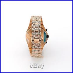 AP Audemars Piguet Royal Oak Offshore Rose Gold Chronograph 28 Carat VS Diamonds