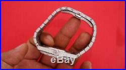 AP Audemars Piguet Royal Oak Steel Watch 15400 3029 Diamonds Honeycomb Setting