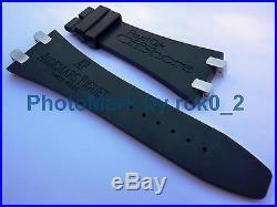 AUDEMARS PIGUET ROYAL OAK OFFSHORE 28mm X 18mm RUBBER STRAP Band+S/S PLOTS LINKS