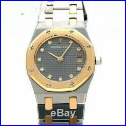 AUDEMARS PIGUET Royal Oak Diamond 18K Gold Steel Quartz Watch SA66270 / 722SA