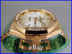 Ap Audemars Piguet Royal Oak Ladies 18k Rose Gold Diamonds 15451or. Zz. 1256or. 01