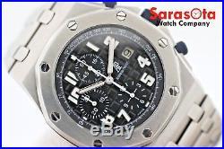 Audemars Piguet AP Royal Oak OffShore 14660 Chrono Black Dial Steel Wrist Watch
