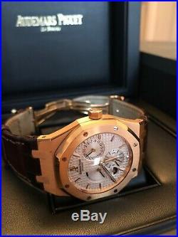 Audemars Piguet ROYAL OAK DUAL TIME 18K Pink Gold 39m Watch 26120OR. OO. D088CR. 01