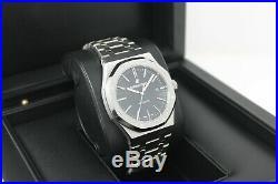 Audemars Piguet Royal Oak 15400ST 41MM Black 2014 Service 2020 2 Yrs Warranty AP