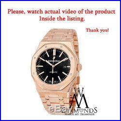 Audemars Piguet Royal Oak 18K Rose Gold Watch Ref. 15400 Black Dial NEW with tag
