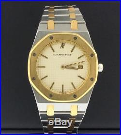Audemars Piguet Royal Oak 33mm Midsize 18k Gold & Steel Quartz Date White Dial