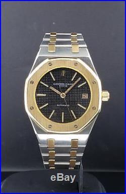Audemars Piguet Royal Oak 36mm Automatic Yellow Gold & Steel Vintage Black Dial