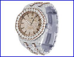 Audemars Piguet Royal Oak 37MM 18K Rose Gold/ Steel Diamond Watch 32.75 Ct