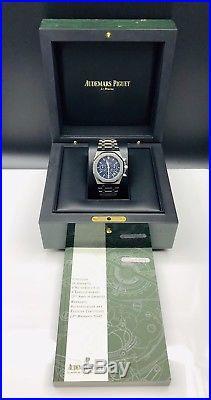 Audemars Piguet Royal Oak 39mm Blau Chronograph Edelstahl Box&Papiere