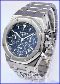 Audemars Piguet Royal Oak 39mm Chronograph Watch Blue Dial 25860ST. OO. 1110ST