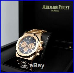 Audemars Piguet Royal Oak 41 Blue Chrono 18K Rose Gold NEW 26331OR. OO. 1220OR. 01