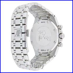 Audemars Piguet Royal Oak 41MM Chronograph Watch Stainless Steel Black Dial