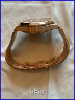 Audemars Piguet Royal Oak 41mm 18K RoseGold Blue Dial Watch 26331OR. OO. 1220OR. 01
