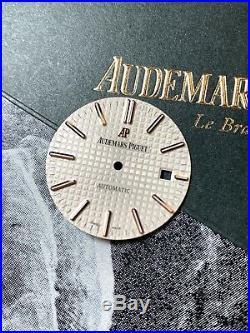 Audemars Piguet Royal Oak 41mm 18k Rose Gold White Dial 15400OR