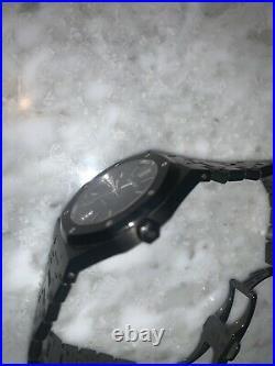 Audemars Piguet Royal Oak 41mm Black PVD RARE Model Box & Papers Like New