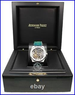 Audemars Piguet Royal Oak 41mm Grey Skeleton Dial B/P 15407ST. OO. 1220ST. 01 NEW