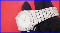 Audemars Piguet Royal Oak 41mm Steel Watch 2500 Diamonds Flower Setting 21 Cts