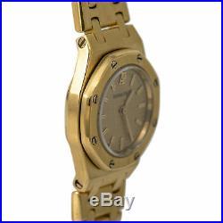 Audemars Piguet Royal Oak 6707BA. OO. 1100BA. 06 Lady's 18k YG Quartz Watch withB&P