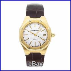Audemars Piguet Royal Oak Auto 37mm Yellow Gold Mens Strap Watch Date 14800BA