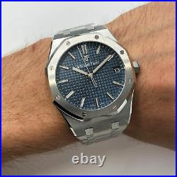 Audemars Piguet Royal Oak Blue Dial Automatic Mens Watch 15500ST. OO. 1220ST. 01
