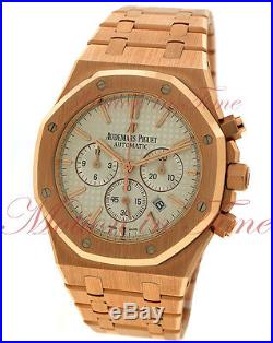 Audemars Piguet Royal Oak Chrono 41mm Rose Gold Silver Dial 26320OR. OO. 1220OR. 02