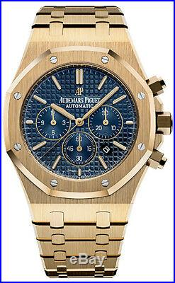 Audemars Piguet Royal Oak Chronograph Yellow Gold Blue Dial 26320BA. OO. 1220BA. 02