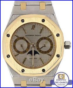 Audemars Piguet Royal Oak Day Date Moonphase 18K Two Tone Gold 36mm Gray 25594SA