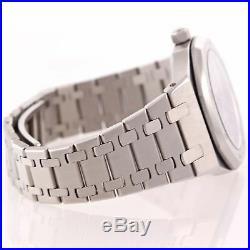 Audemars Piguet Royal Oak Day Date Moonphase Steel 36mm Black 25594SA Watch A9
