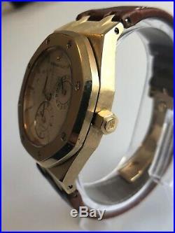 Audemars Piguet Royal Oak Dual Time Power Reserve 18k Gold Mens Watch