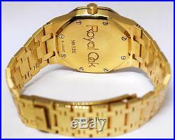 Audemars Piguet Royal Oak Dual Time Power Reserve 18k Gold Mens Watch 25730BA