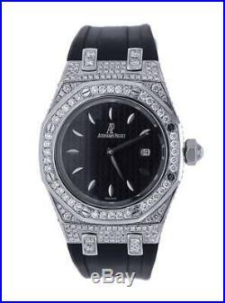 Audemars Piguet Royal Oak Ladies- Diamond Bezel And Case Black Rubber Strap