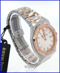 Audemars Piguet Royal Oak Ladies Steel & Rose Gold Diamond Watch 67651sr Quartz