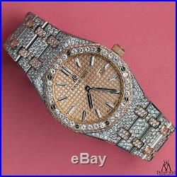 Audemars Piguet Royal Oak Ladies Steel & Rose Gold Watch 67650sr Quartz