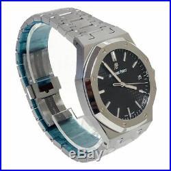 Audemars Piguet Royal Oak Mens Steel Watch 15500st Black