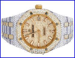 Audemars Piguet Royal Oak Midsize 37MM Rose Gold/ Steel Diamond Watch 22.35 Ct