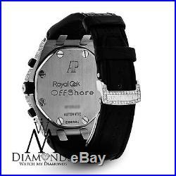 Audemars Piguet Royal Oak Offshore Chronograph Diamonds Watch on Leather Strap