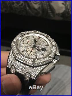 Audemars Piguet Royal Oak Offshore Diamond With Rubber Strap Watch 44mil