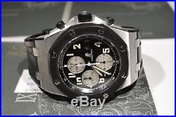 Audemars Piguet Royal Oak Offshore Rubber Clad Black Mens Steel Sports Watch
