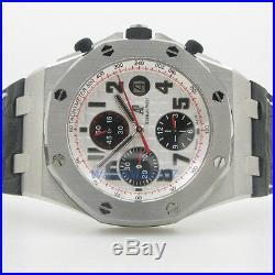 Audemars Piguet Royal Oak Offshore Silver Dial Chronograph Mens Watch ap57