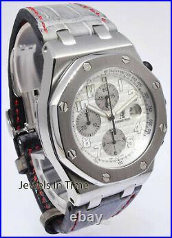 Audemars Piguet Royal Oak Offshore Silver Dial Chronograph Watch 26020ST. OO. D001