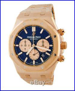 Audemars Piguet Royal Oak Rose Gold 41mm Chronograph Blue 26331OR. OO. 1220or. 01