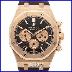 Audemars Piguet Royal Oak Rose Gold Chocolate Dial Watch 26331OR. OO. D821CR. 01