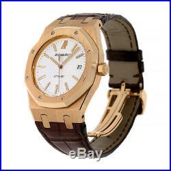 Audemars Piguet Royal Oak Rose Gold White 39MM Watch 15300OR. OO. D088CR. 02