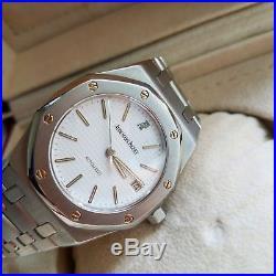 Audemars Piguet Royal Oak Vintage 36mm Automatic Watch Rare White Dial