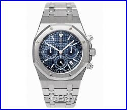 Audemars Piguet Steel Royal Oak Chronograph 39mm Kasparov Blue Dial 25860ST