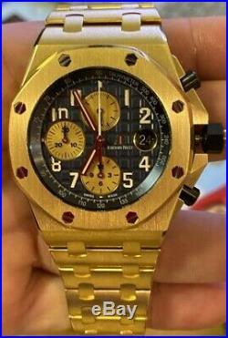 Audemars Piguet gold ROYAL OAK OFFSHORE CHRONOGRAPH REF 26470BA. OO. 1000BA. 01