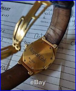 Audemars Piguet royal oak 14800BA 18k gold 37mm from 2000. One of the last